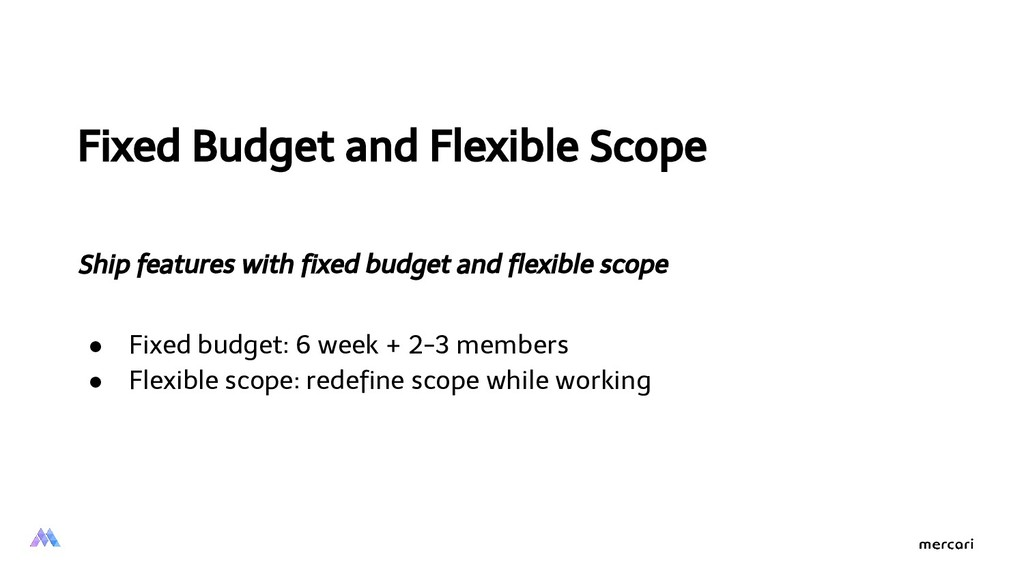 Fixed Budget and Flexible Scope Ship features w...