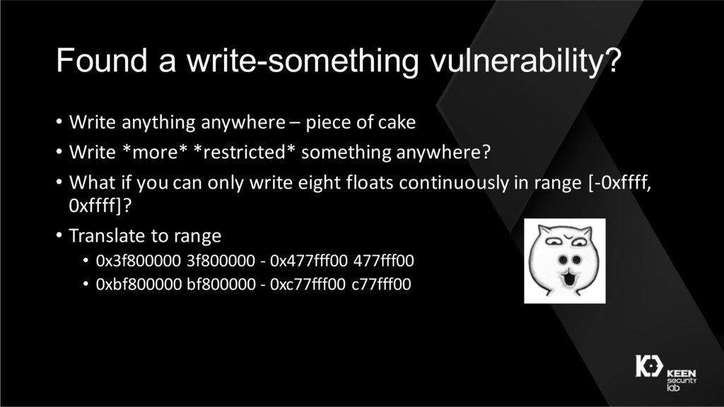 Found a write-something vulnerability? • Write ...