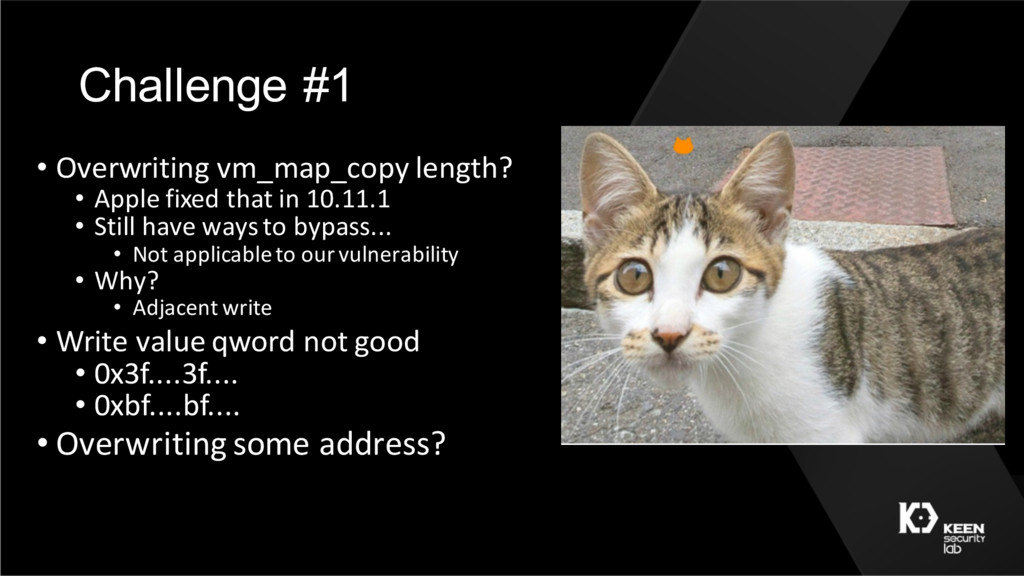 Challenge #1 • Overwriting vm_map_copy length? ...
