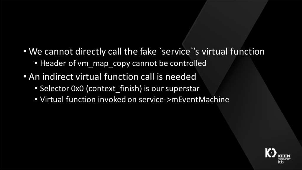 • We cannot directly call the fake `service`'s ...