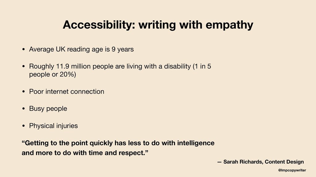 @lmpcopywriter Accessibility: writing with empa...