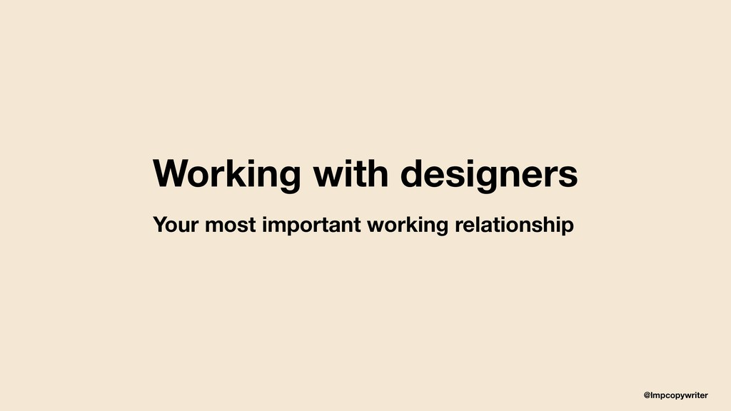 @lmpcopywriter Working with designers Your most...