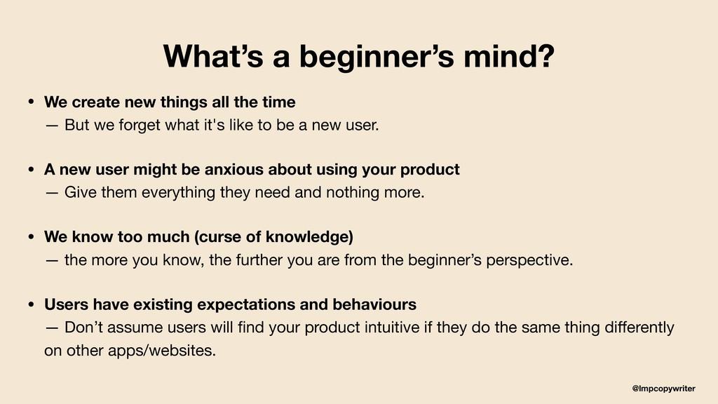 @lmpcopywriter What's a beginner's mind? • We c...