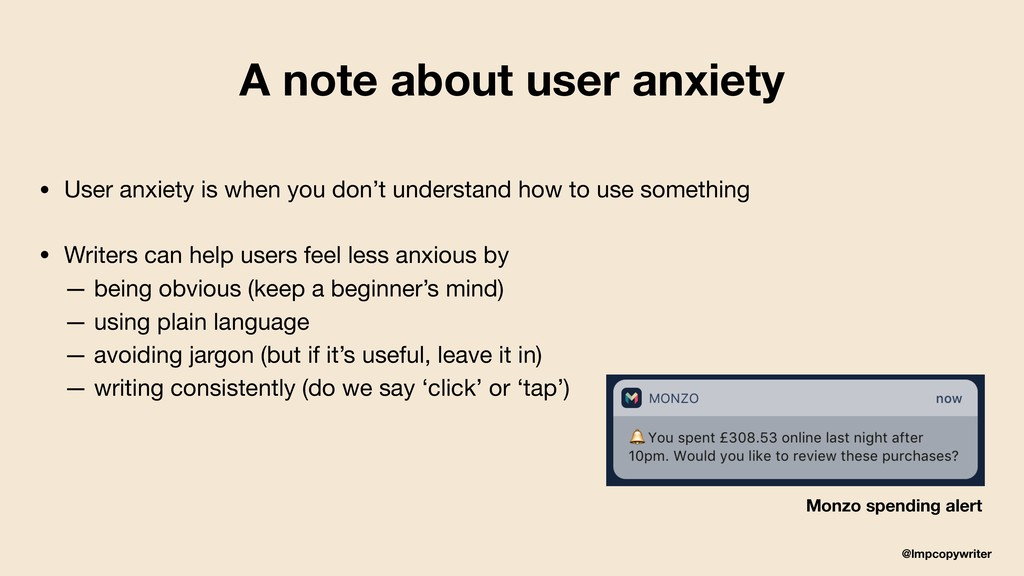 @lmpcopywriter A note about user anxiety • User...