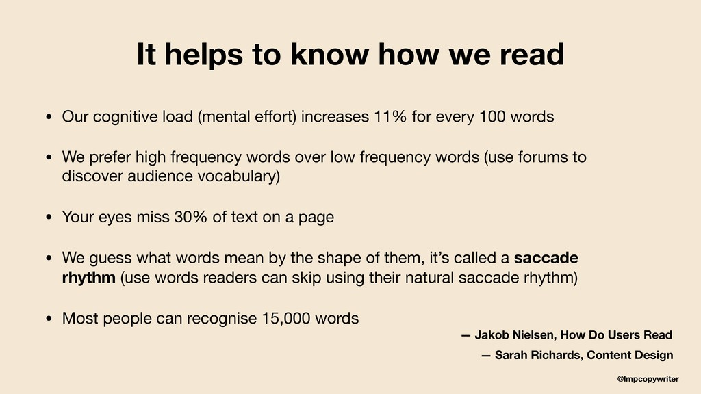 @lmpcopywriter It helps to know how we read • O...