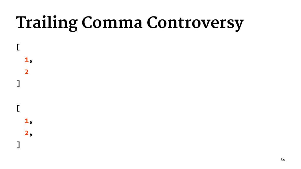 Trailing Comma Controversy [ 1, 2 ] [ 1, 2, ] 34
