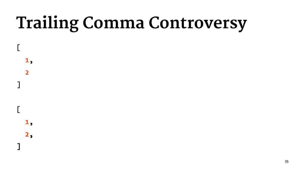 Trailing Comma Controversy [ 1, 2 ] [ 1, 2, ] 35