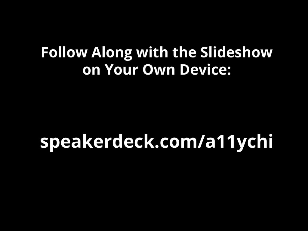 Follow Along with the Slideshow on Your Own Dev...