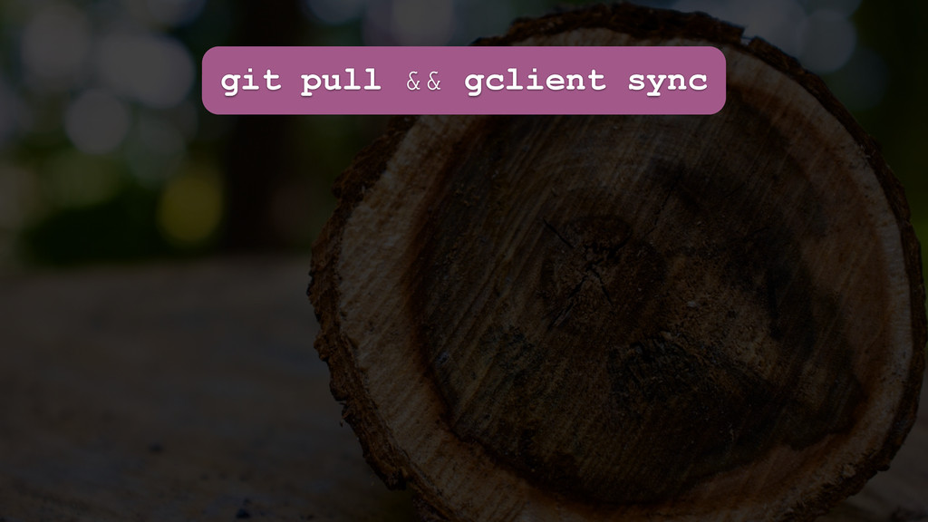 git pull && gclient sync