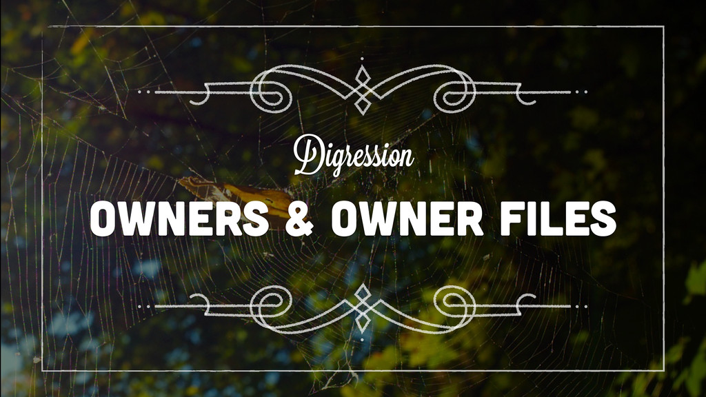 OWNERS & OWNER FILES Digression