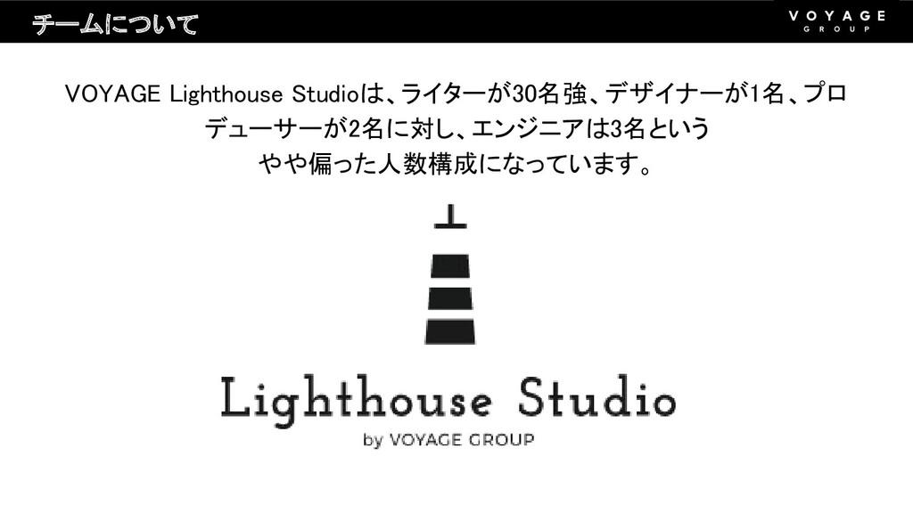VOYAGE Lighthouse Studioは、ライターが30名強、デザイナーが1名、プロ...