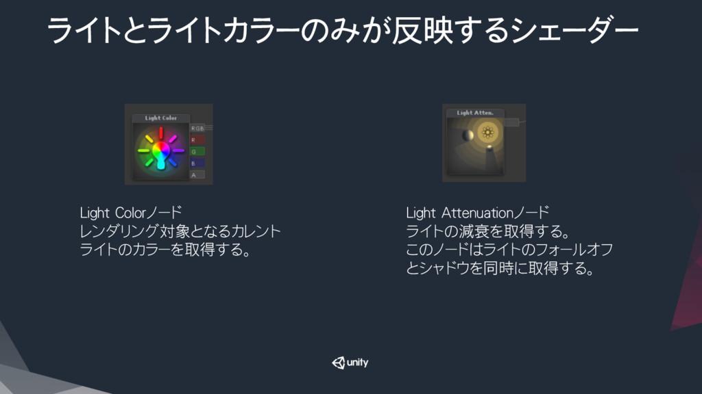 ライトとライトカラーのみが反映するシェーダー Light Colorノード レンダリング対...