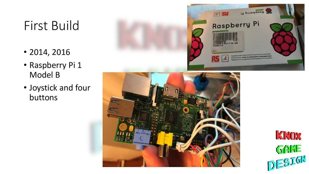 First Build • 2014, 2016 • Raspberry Pi 1 Model...