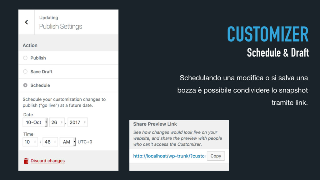 CUSTOMIZER Schedule & Draft Schedulando una mod...
