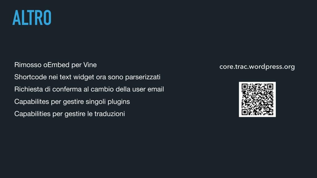 ALTRO Rimosso oEmbed per Vine Shortcode nei te...