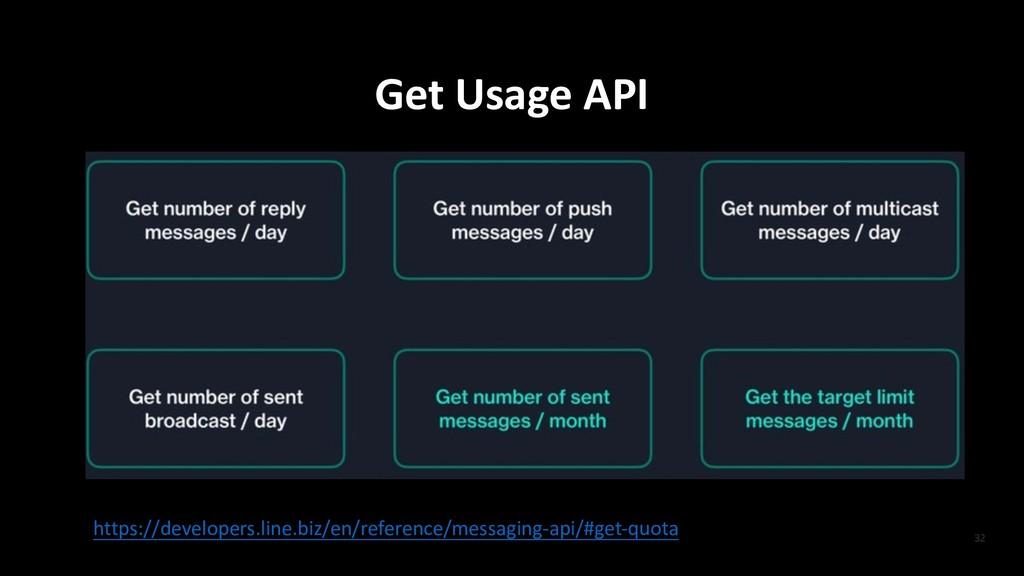 Get Usage API https://developers.line.biz/en/re...