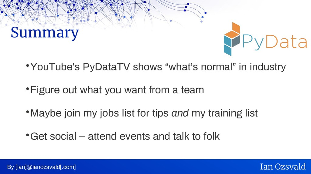 " YouTube's PyDataTV shows ""what's normal"" in i..."