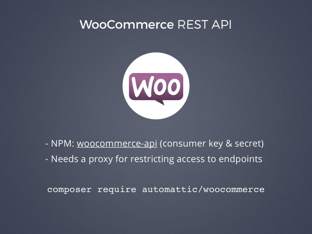WooCommerce REST API - NPM: woocommerce-api (co...