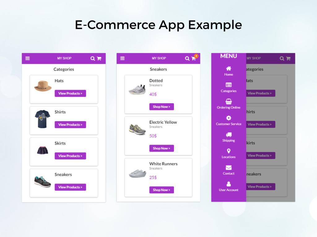 E-Commerce App Example