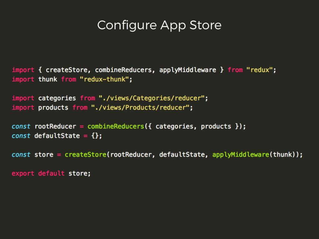 Configure App Store