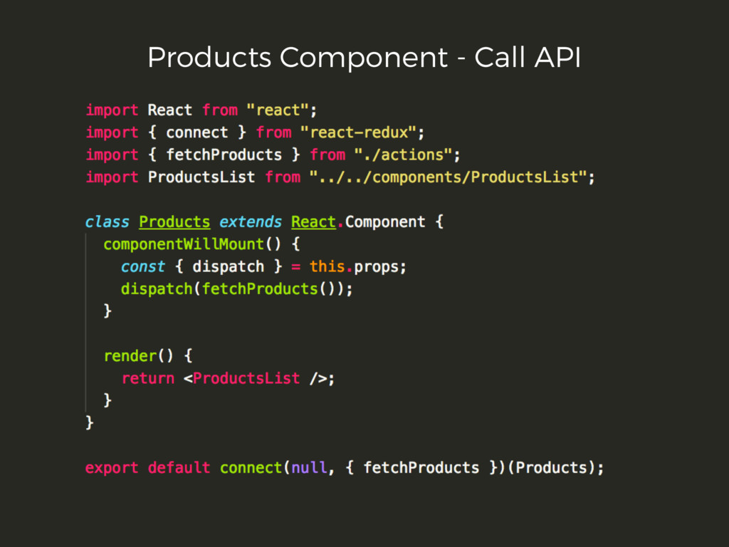 Products Component - Call API