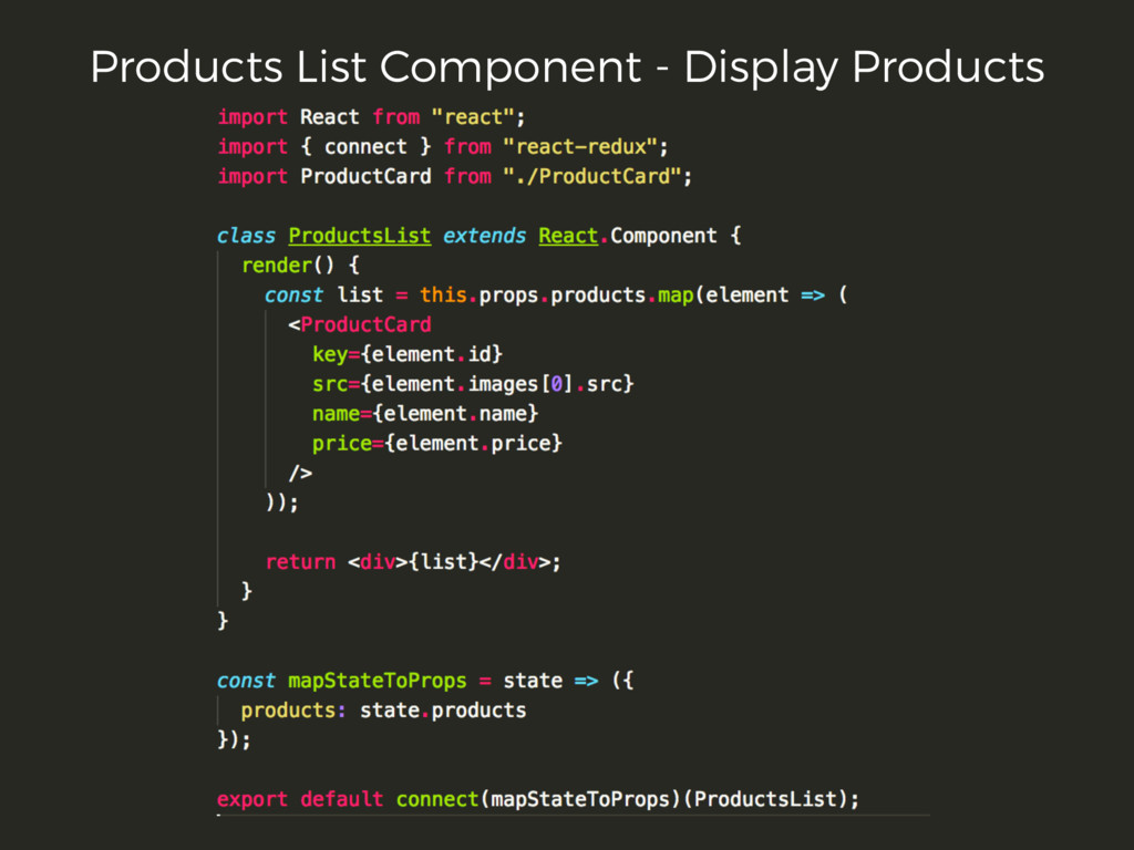 Products List Component - Display Products