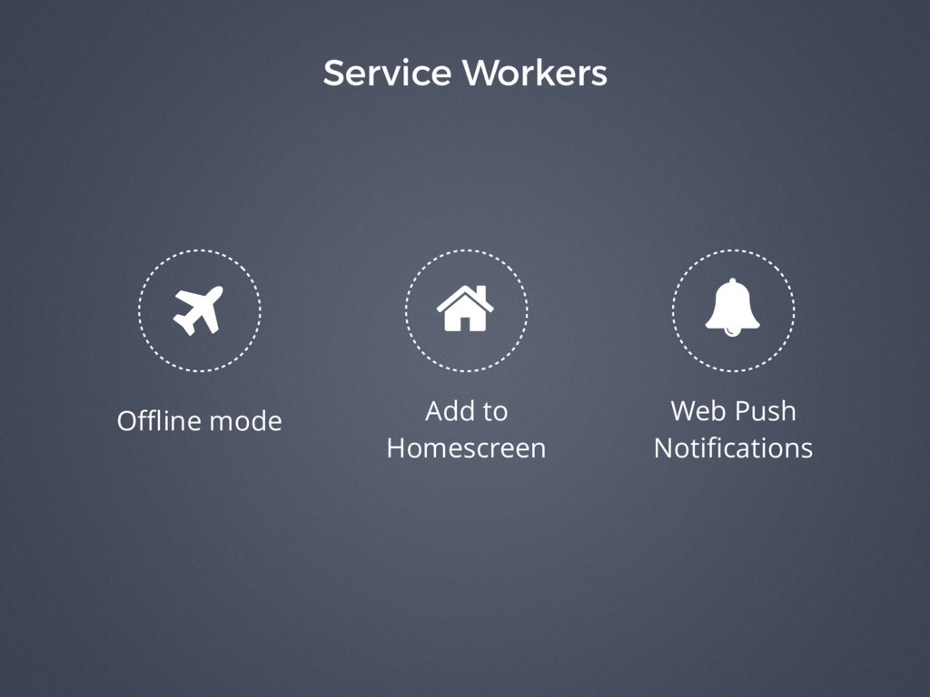 Service Workers % Add to Homescreen Web Push No...
