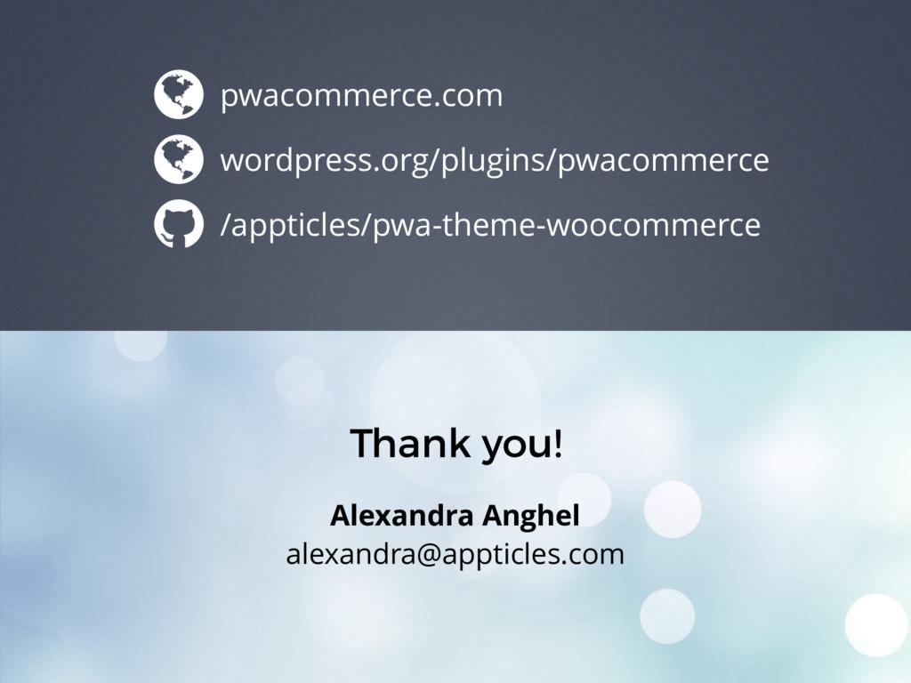 Thank you! Alexandra Anghel alexandra@appticles...