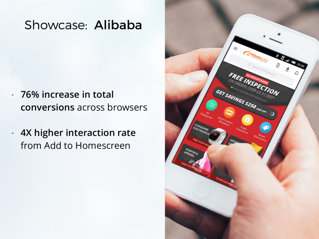 Showcase: Alibaba - 76% increase in total conve...
