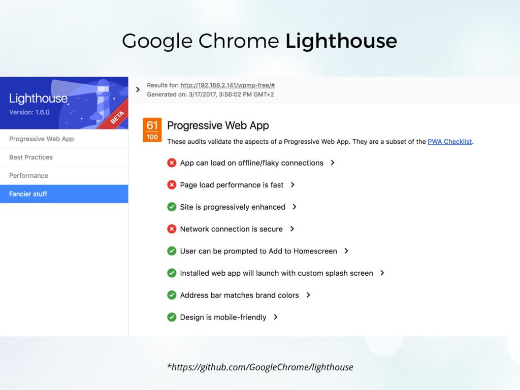 Google Chrome Lighthouse *https://github.com/Go...