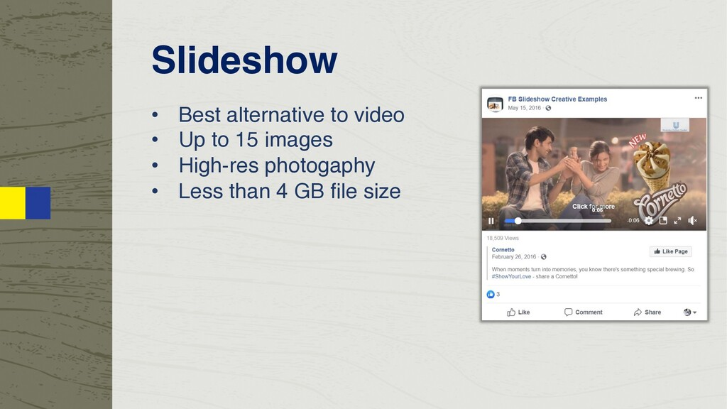 Slideshow • Best alternative to video • Up to 1...