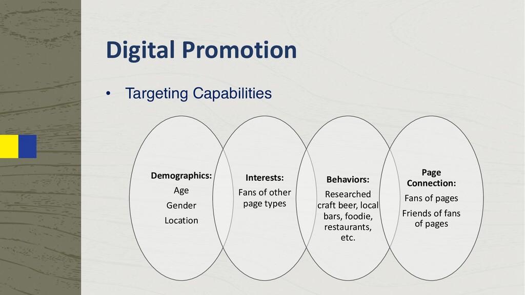 Digital Promotion • Targeting Capabilities Demo...