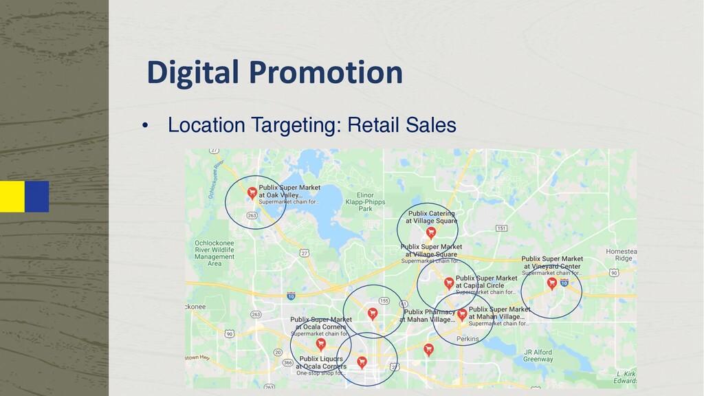 Digital Promotion • Location Targeting: Retail ...