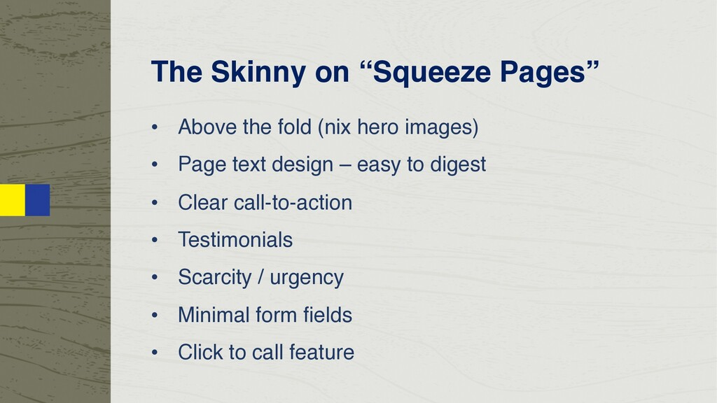"""The Skinny on """"Squeeze Pages"""" • Above the fold ..."""