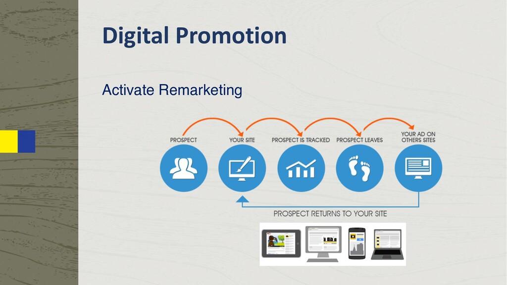 Digital Promotion Activate Remarketing