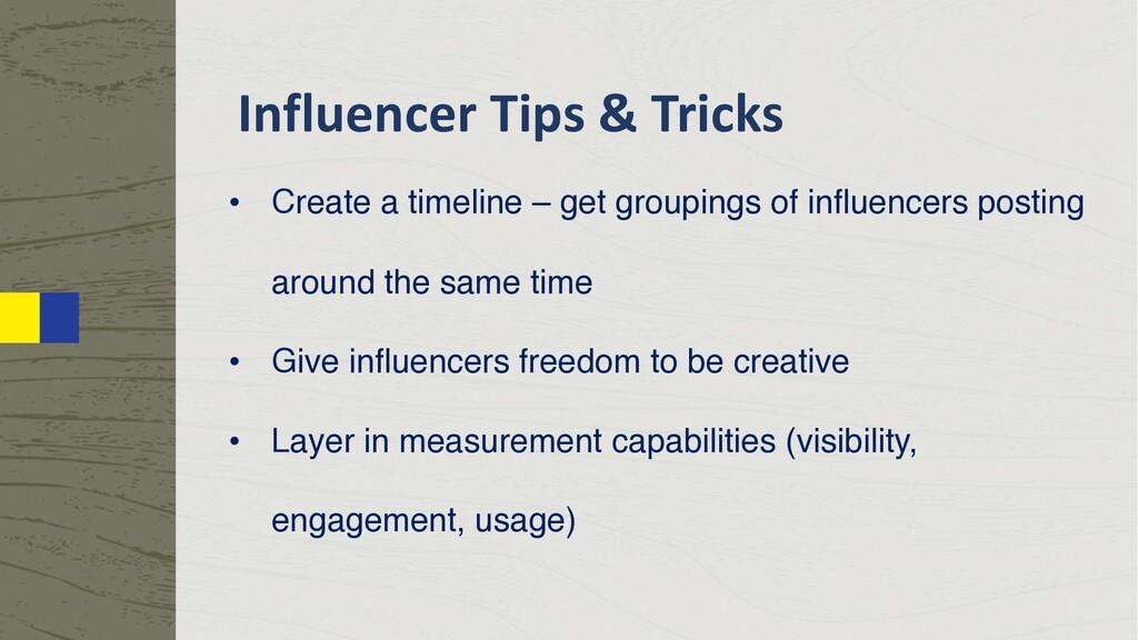 Influencer Tips & Tricks • Create a timeline – ...