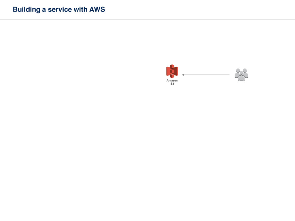 Building a service with AWS Amazon S3