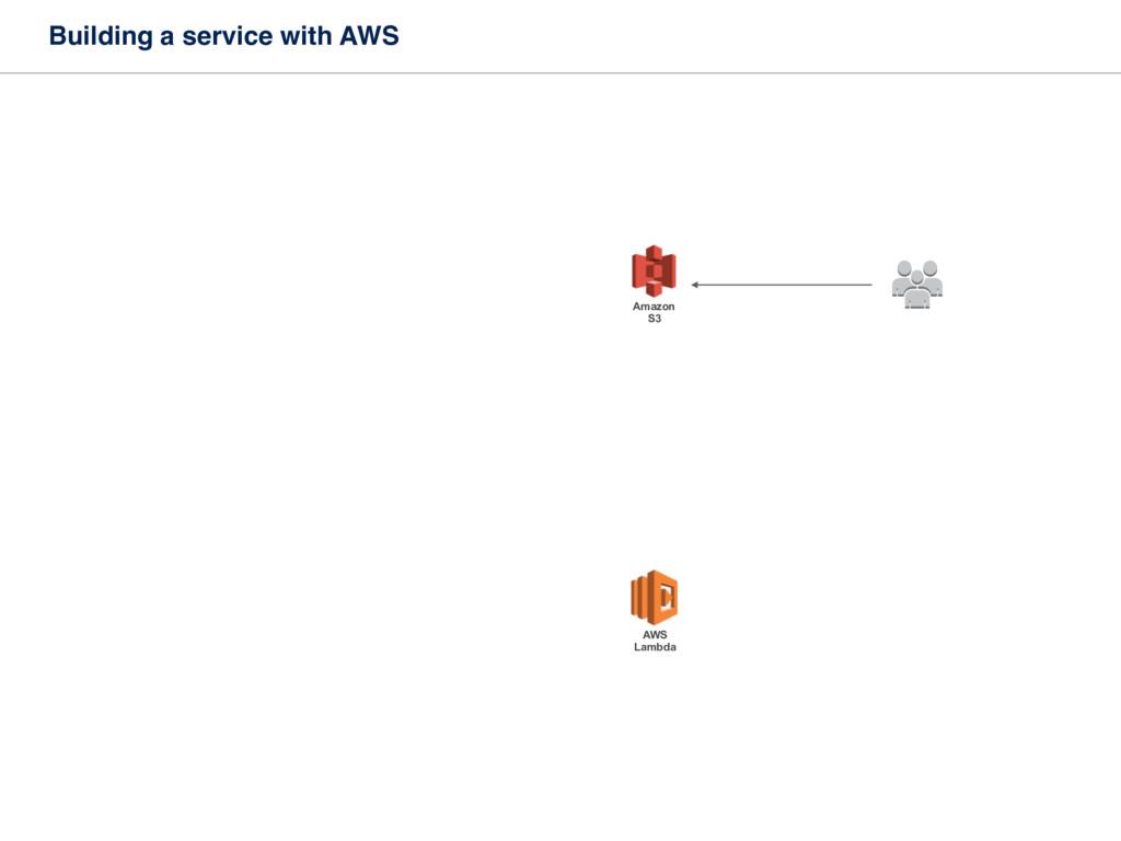 Building a service with AWS AWS Lambda Amazon ...