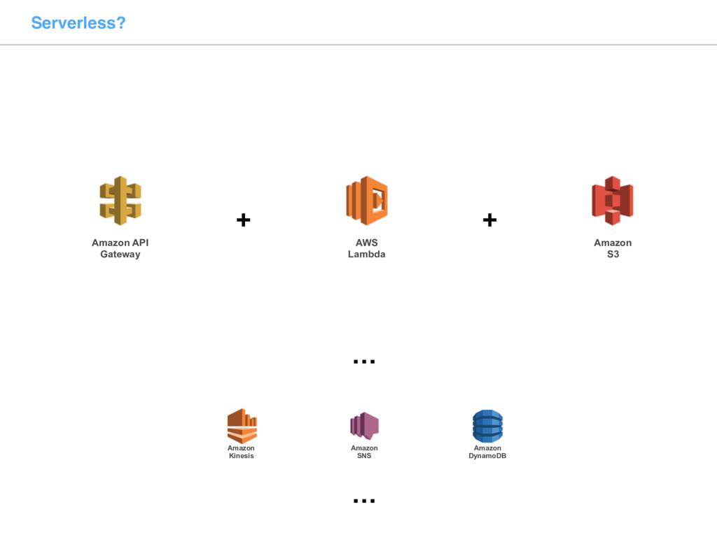 Serverless? Amazon API Gateway AWS Lambda + Ama...