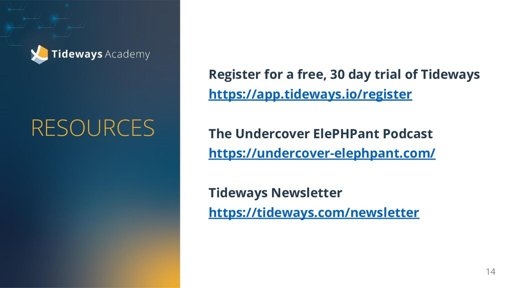 RESOURCES Register for a free, 30 day trial of ...