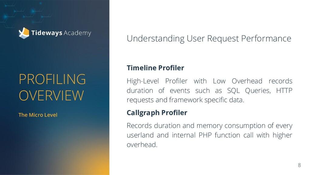 PROFILING OVERVIEW Understanding User Request P...
