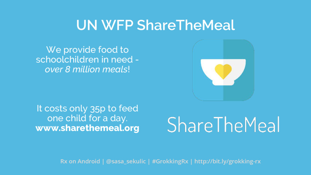 UN WFP ShareTheMeal We provide food to schoolch...