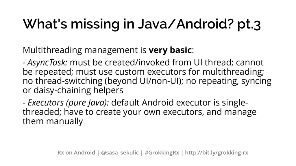 What's missing in Java/Android? pt.3 Multithrea...