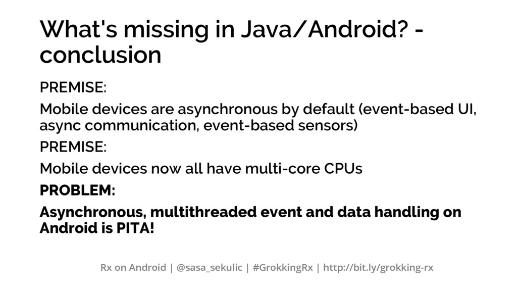 What's missing in Java/Android? - conclusion PR...