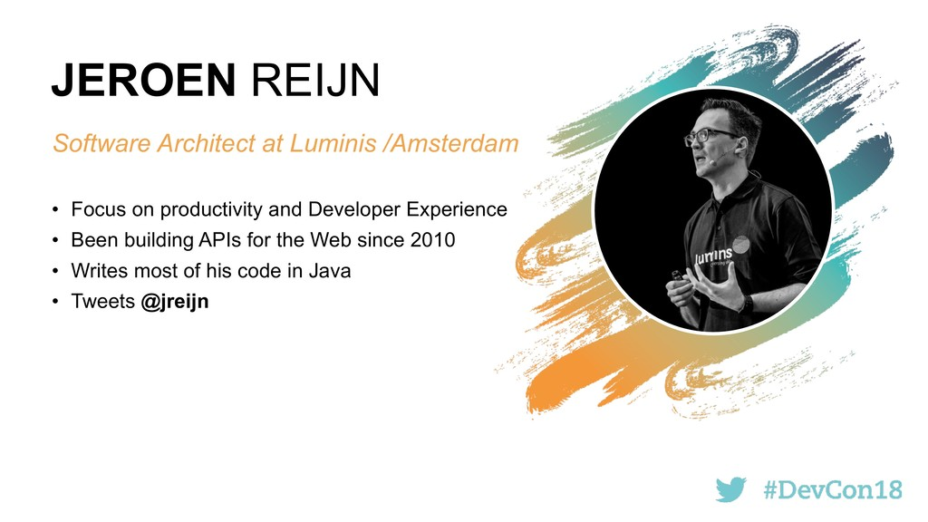 JEROEN REIJN Software Architect at Luminis /Ams...