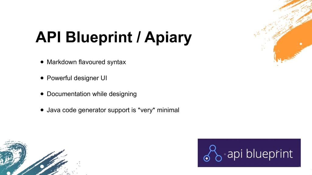 API Blueprint / Apiary • Markdown flavoured syn...