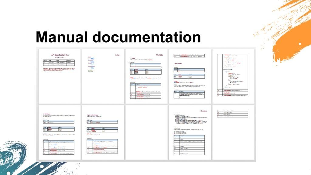 Manual documentation