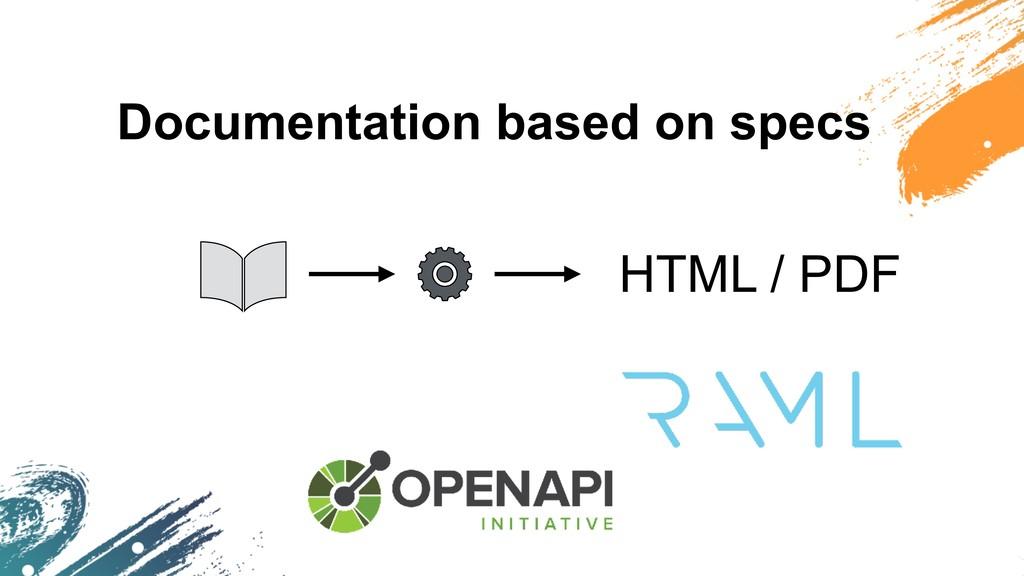 Documentation based on specs HTML / PDF