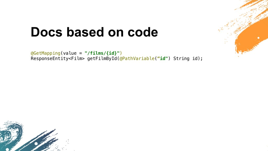 """Docs based on code @GetMapping(value = """"/films/..."""