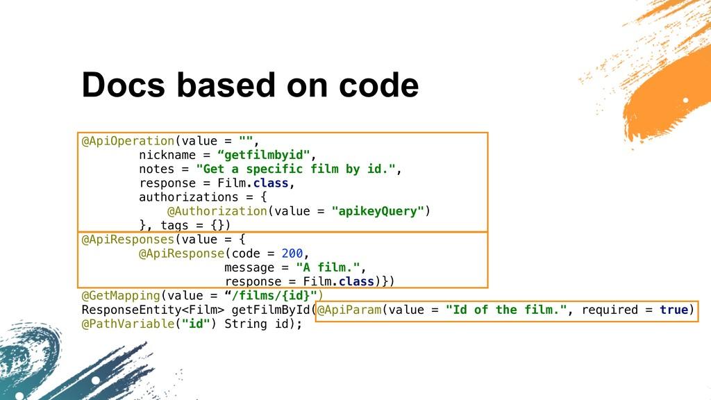 "Docs based on code @ApiOperation(value = """", ni..."